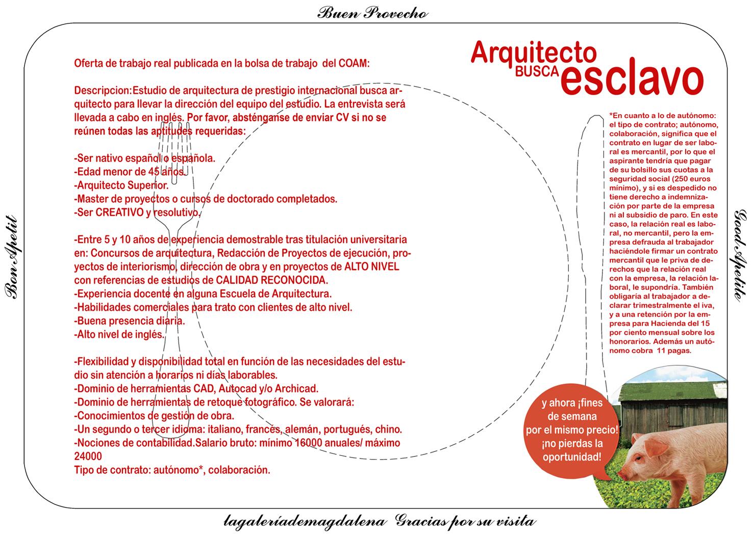 Granada ii arquitecto busca esclavo lagaleriademagdalena - Arquitectos en granada ...
